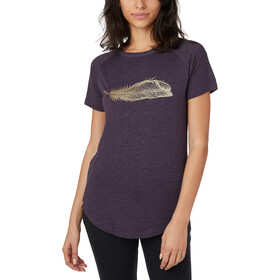 tentree Feather Wave SS Tee Women aubergine purple heather